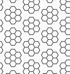 Flat gray with hexagonal flowers vector