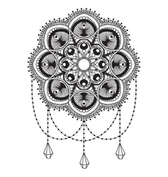 Hand drawn mandala coloping page vector image vector image