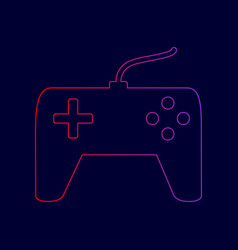joystick simple sign line icon with vector image