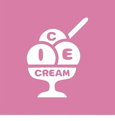 logo ice-cream vector image vector image