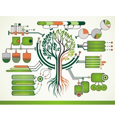 Nature infographic vector image
