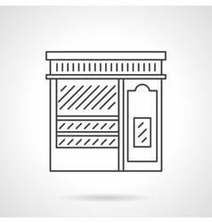 Pastry shop facade flat line icon vector image vector image