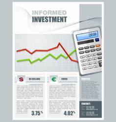 Tax services brochure vector