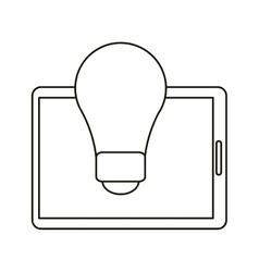 technology device idea creative outline vector image