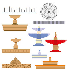 architecture fountain set image vector image