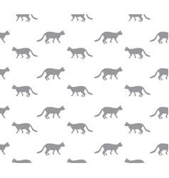 cat seamless pattern walking kitten background vector image vector image
