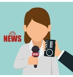 Character interview news graphic vector