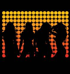 dance silhouettes vector image vector image