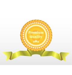 Premium Quality label eps10 vector image vector image