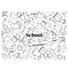 School colorless set vector image vector image