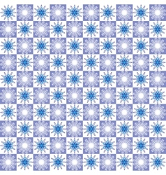 Winter abstract geometric seamless pattern vector image vector image