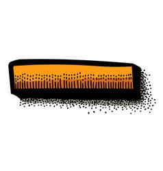cartoon image of minus vector image vector image