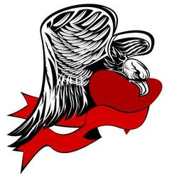 eagle with heart vector image