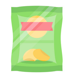 packaged chips isolated icon vector image
