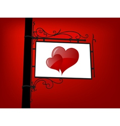 retro love signboard vector image