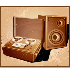 retro reel tape recorder vector image vector image