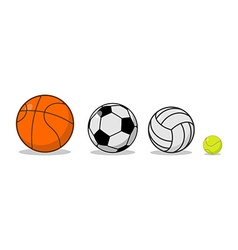 Sports ball set Basketball and football Tennis and vector image vector image