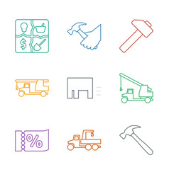 9 advertising icons vector