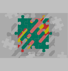 Abstract colors puzzles concepts vector