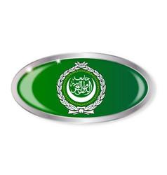 Arab league flag oval button vector