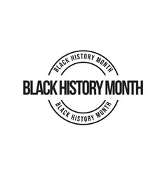Black history month template design vector