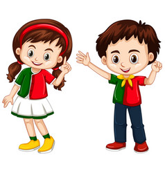 boy and girl from portugal vector image