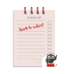 checklist and smart owl vector image
