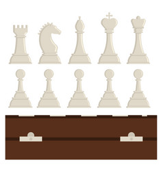 chess board and chessmen strategy play vector image