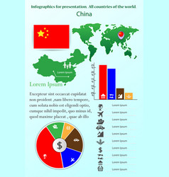 china infographics for presentation all vector image
