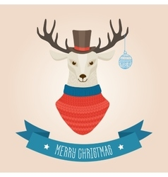 Christmas cute forest deer head logo vector