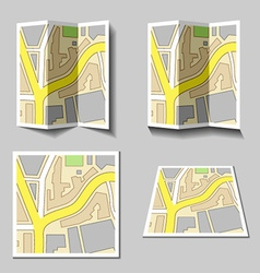 City navigation map icons vector