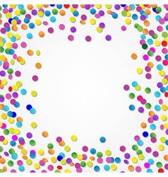 Colorful Confetti Border vector