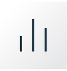 column outline symbol premium quality isolated vector image