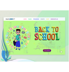 concept schoolwork for website or web page vector image