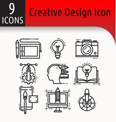 creative design icon vector image
