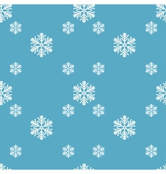 creative snowflakes seamless pattern vector image