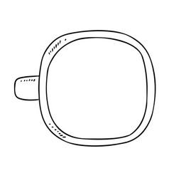 Cup doodle sketch hand drawn cartoon style mug vector