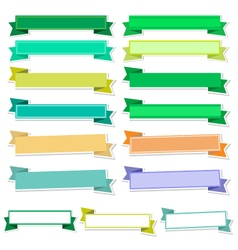 Cute ribbons on white background vector image