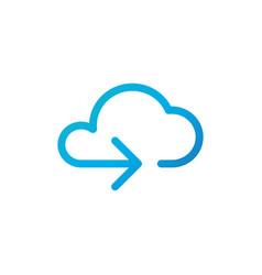 data cloud icon backup restore upload download vector image