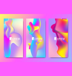 design templates in trendy vibrant gradient vector image