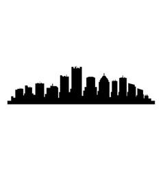 detroit skyline vector image