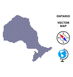 Dot ontario province map vector