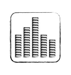 equalizer sound isolated icon vector image