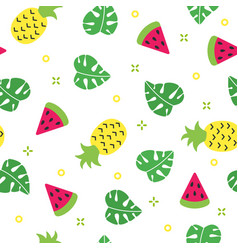 exotic summer seamless pattern with watermelon and vector image