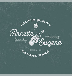 Family winery wine shop logo organic wines vector