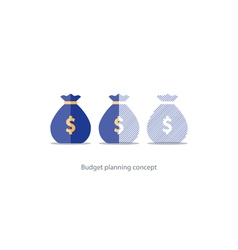 Financial investment plan budget management money vector