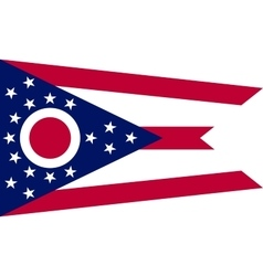 Flag of Ohio in correct size and colors vector