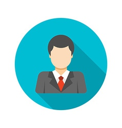 Flat business man user profile avatar in suit vector