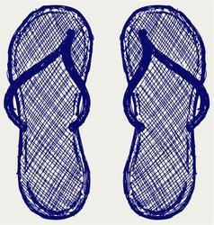 Flip flop vector image