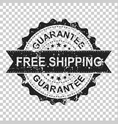 Free shipping scratch grunge rubber stamp on vector